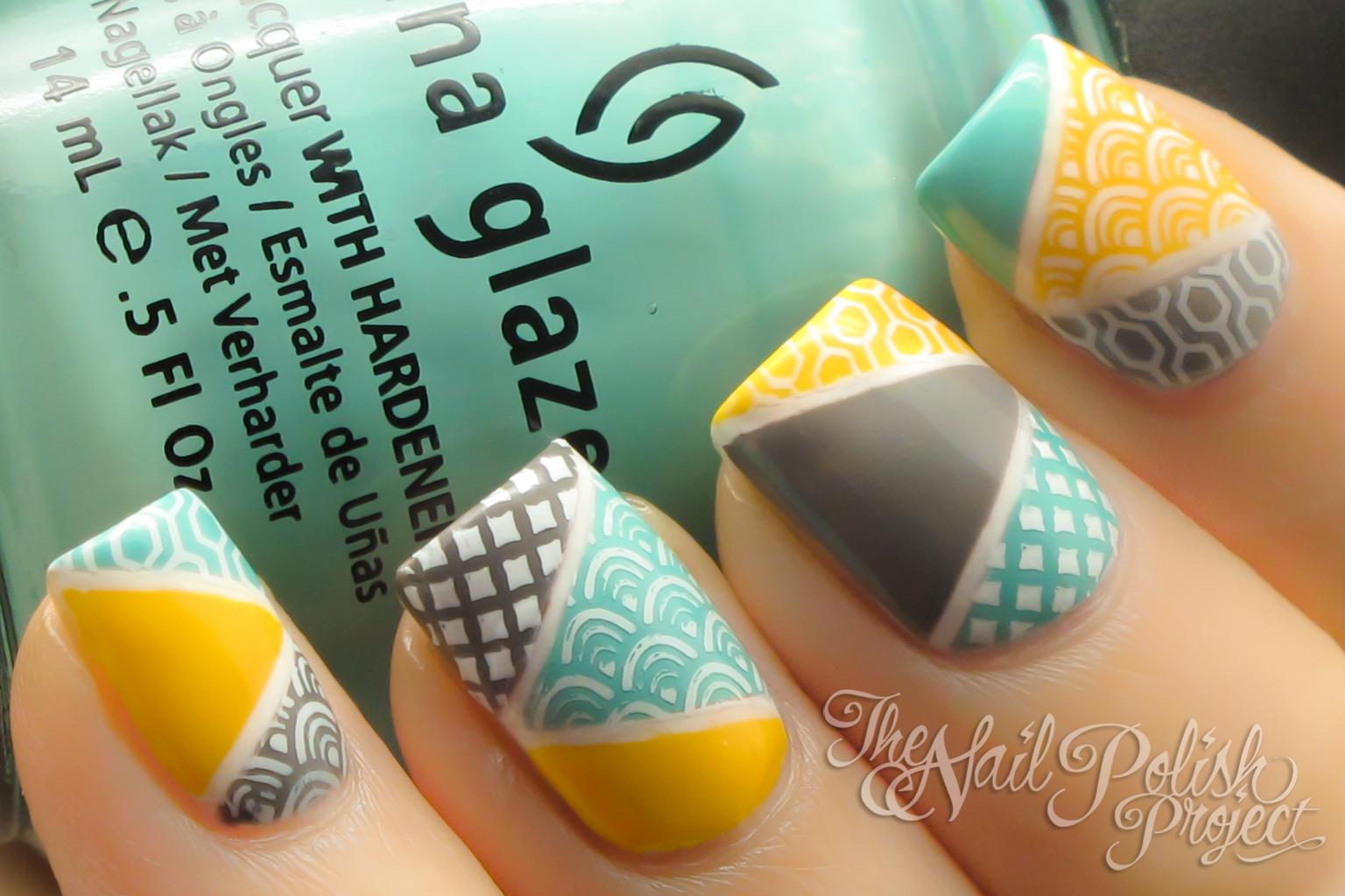 Encantador Diseño De Uñas Amarillas Composición - Ideas de Pintar de ...