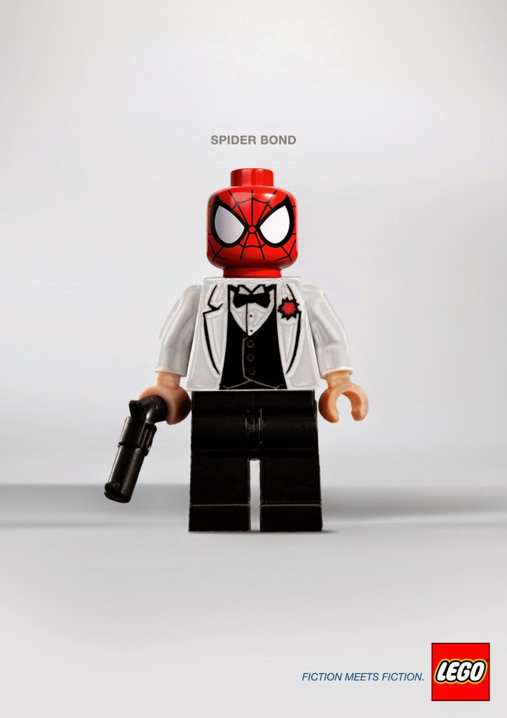 LEGO, Fiction meets fiction, Spiderman y James Bond