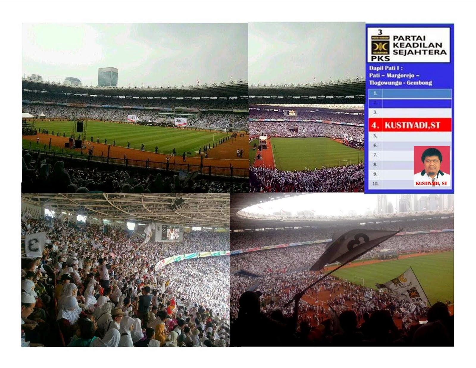 PKS Putihkan Gelora bung Karno 2014