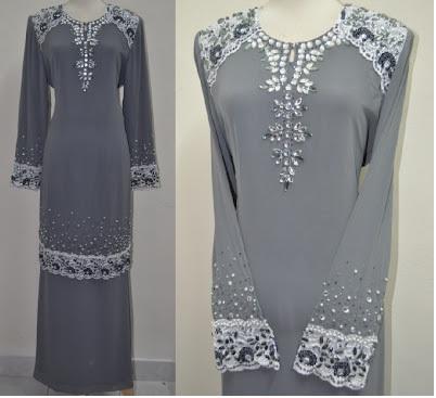 border lace baju kurung