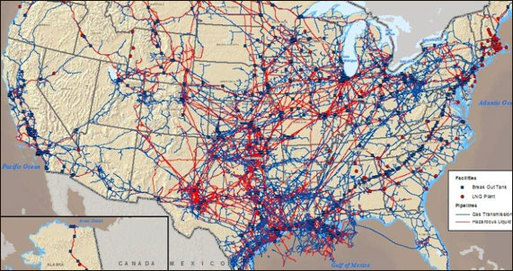 NaturalGas Pipelines Interactive Map Of Pipelines In The United - Pipelines in us map