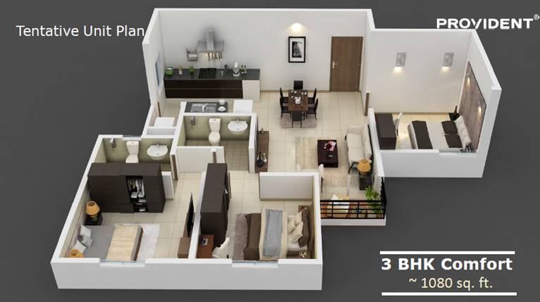 Provident Rising City 3 BHK Comfort