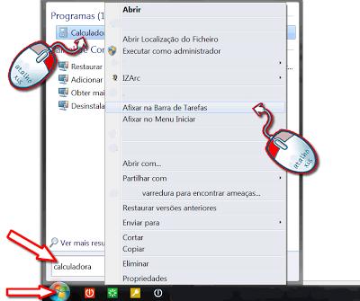 afixar a Calculadora do Windows