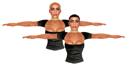 Mannequin Skin Hair or Hairless - Mesh
