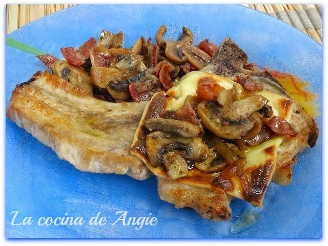 Chuletas De Cerdo Gratinadas