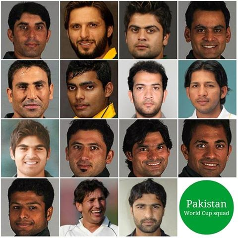 Pakistani Cricket Team Players Name List ICC Cricket World Cup 2015