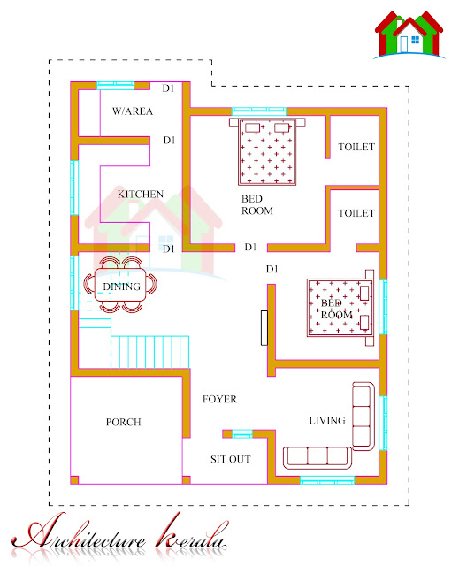 1500 square feet kerala house plan architecture kerala for Kerala model house plans 1000 sq ft