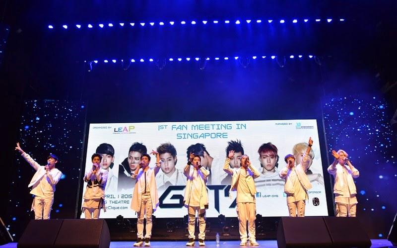GOT7, Singapura, peminat, Malaysia, 2015