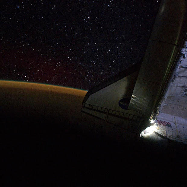 Starry Sky off Space Shuttle Endeavour on STS-134 Mission