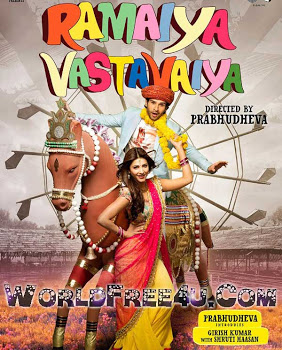 Poster Of Bollywood Movie Ramaiya Vastavaiya (2013) 300MB Compressed Small Size Pc Movie Free Download worldfree4u.com