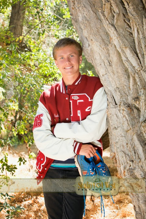 senior boy natural background