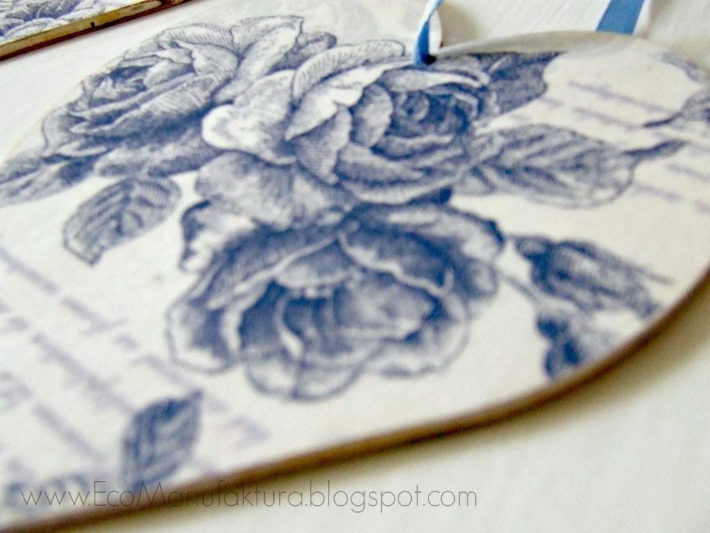 pomysł na oryginalny prezent handmade na walentynki - decoupage serce Eco Manufaktura