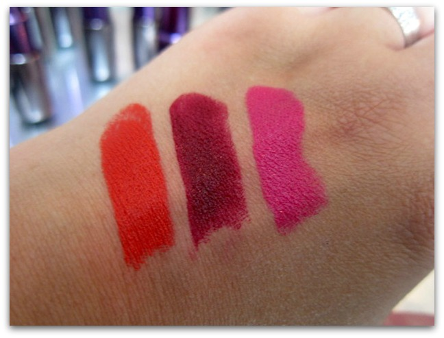 Urban Decay Revolution Lipstick Swatches Bang, Shame, Anarchy