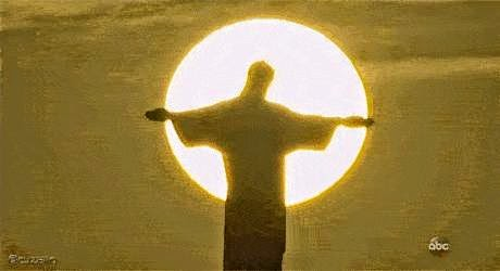 Christ the Redeemer and Sun