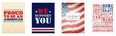 Four designs for Thank the Troops campaign