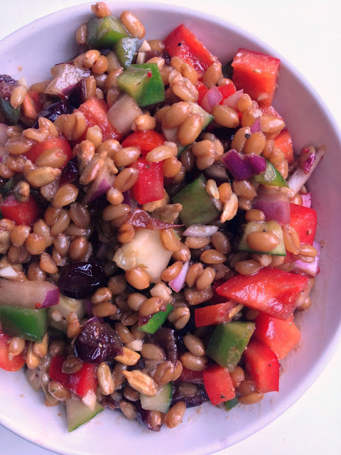 Spelt Berry Salad with Balsamic Maple Dijon Vinaigrette