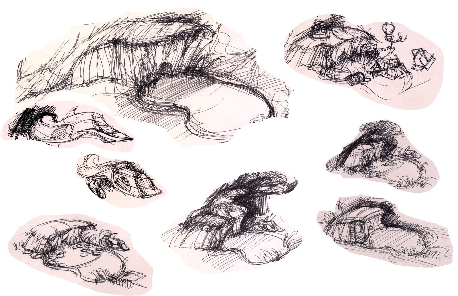 Hannah Joe Pond Environment Sketches
