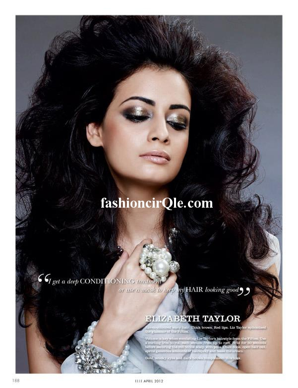 Dia Mirza Elle Magazine Scan -  Dia Mirza's Elle April 2012 Magazine Scans