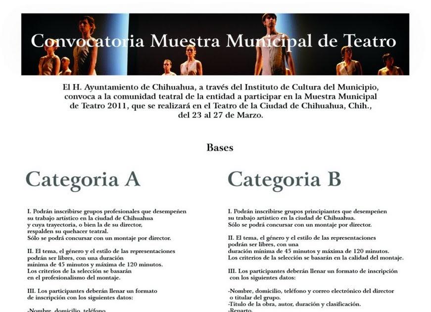 Tramoyam3: Muestra Municipal de Teatro 2011 / convocan el Honorable ...