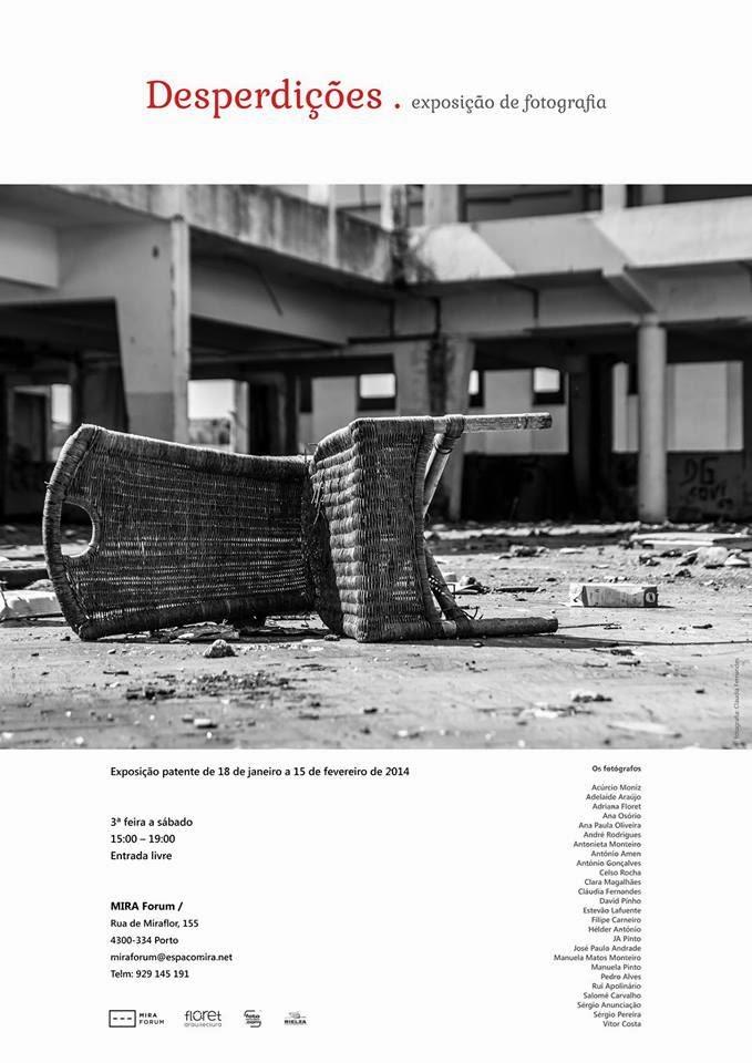 Cartaz da exposição, com as descrições habituais e os autores das fotografias