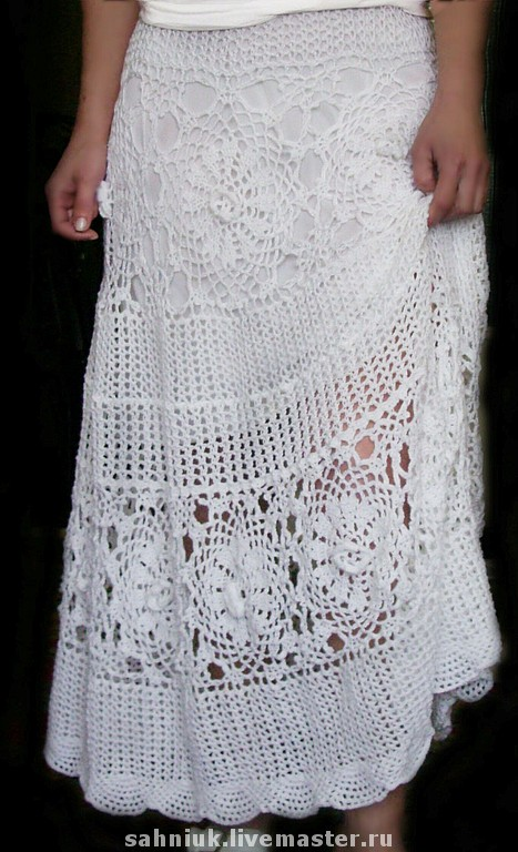 Очень красивые юбки крючком