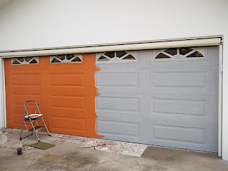 December 2012 everything i create paint garage doors for Painting garage door to look like wood