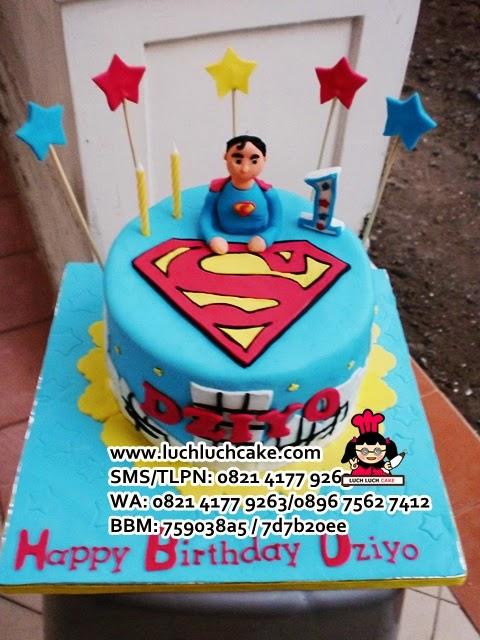Kue Tart Superman Cute Untuk Anak Daerah Surabaya - Sidoarjo
