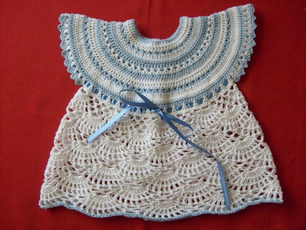 """de crear con tus manos"""".: Polera a crochet para bebé de 3 a 6 meses"""