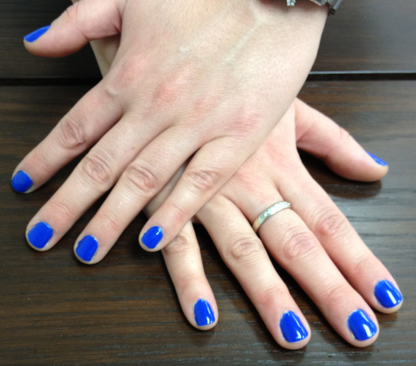 The Beauty of Life: My Friend\'s Mani of the Week: Dior Electric Blue