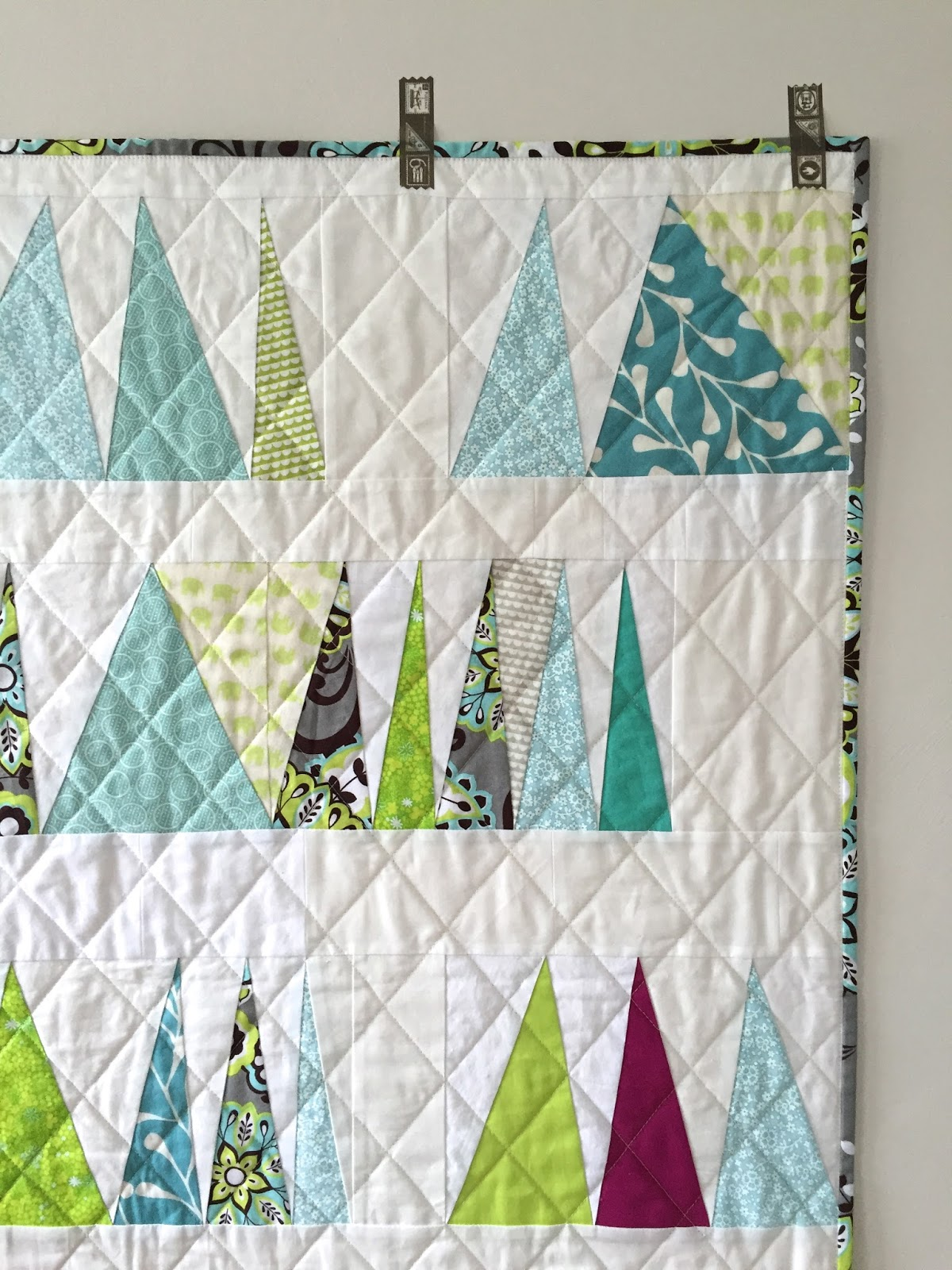 salty oat: modern handmade quilts: wonky triangles baby quilt : wonky quilt - Adamdwight.com