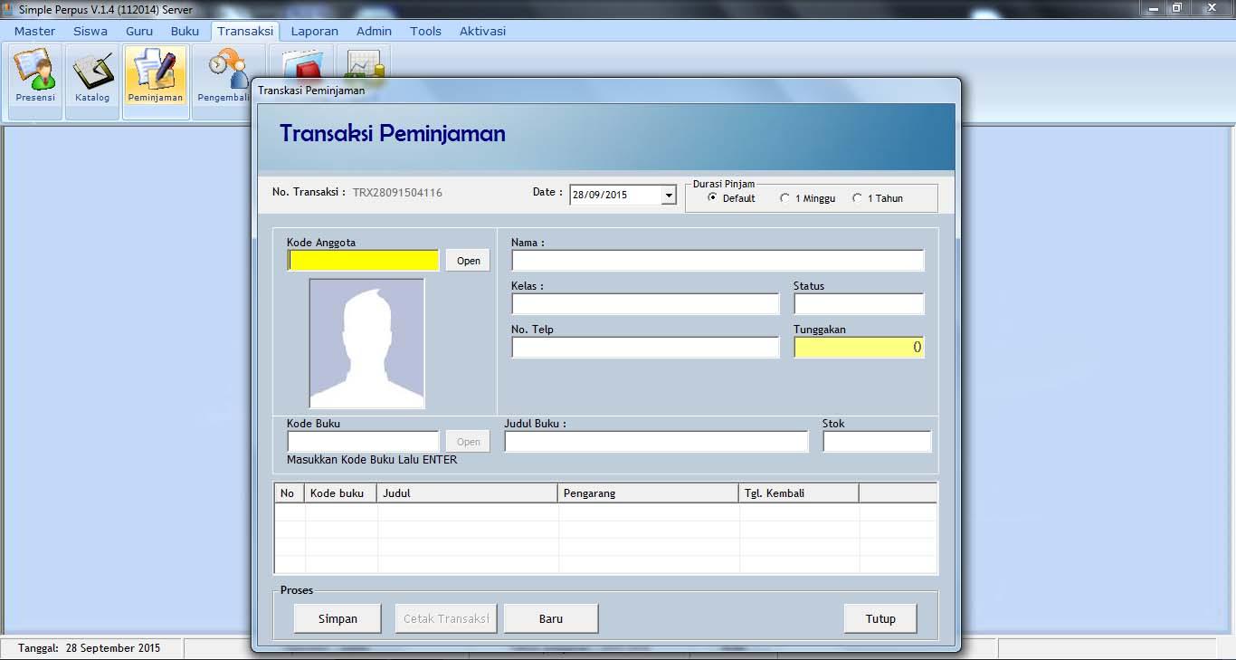 Toko Bm September 2015 Aplikasi Software Qlast Antrian V4 Unlimited Aktivasi Registrasi Bisa Custom Sampai 12 Jenis Pelayanan Ini Sudah Didukung Dengan Fasilitas Barcode Scanner Sehingga Dalam Transaksi Baik Itu Pengisian Daftar Hadir Peminjaman Dan Pengembalian Buku