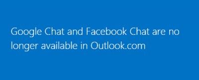 Microsoft Hentikan Layanan Facebook dan Google Chat di Outlook.com