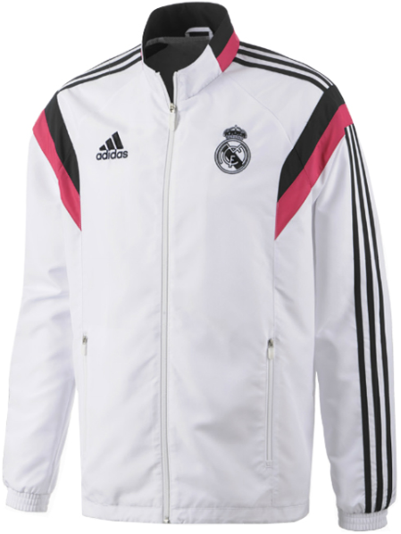 jaket adidas Real Madrid Training 2014-2015 Presentation Suit - Putih Hitam Pink