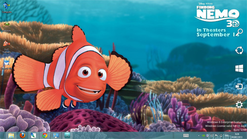 Finding Nemo 3D Theme For Windows 7 And 8