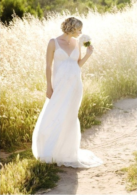 maternity wedding dress