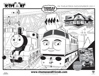 thomas friends day of the diesels giveaway from kidtoonfilms