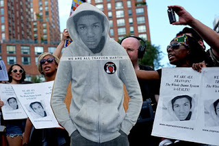 Protest against the not guilty verdict in the case of George Zimmerman shooting  Trayvon Martin (Photo: Gawker)