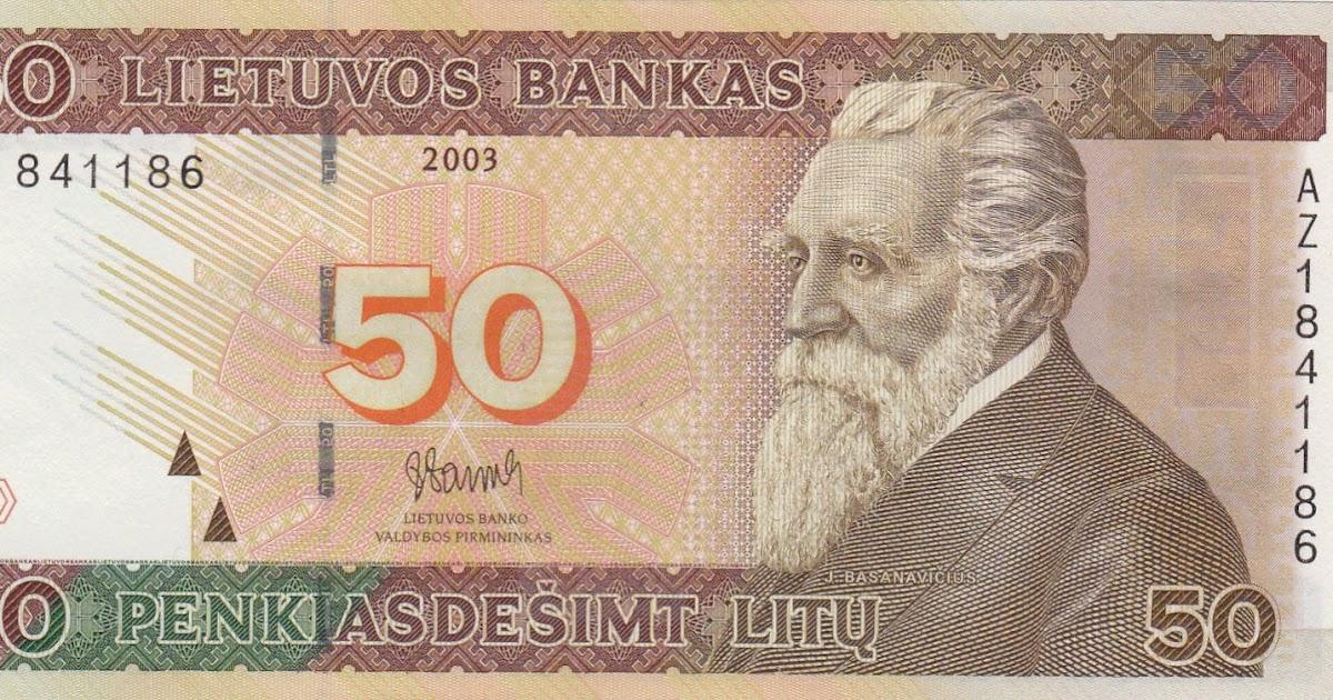 American National Symbols 50 Lithuanian Litas|Wo...