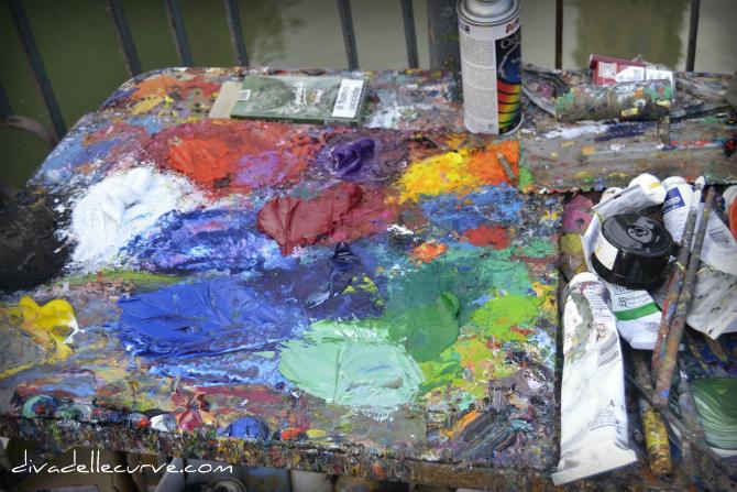la tavolozza del pittore
