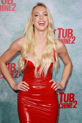 Christine Bently hot sexy cleavage at Hot Tub Time Machine 2 Premiere in Westwood