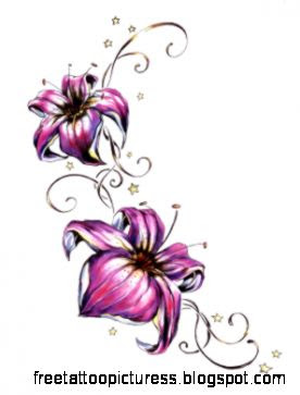 Flower design tattoos hip   photo download wallpaper image and