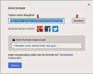 Kirim Formulir Pemesanan Online