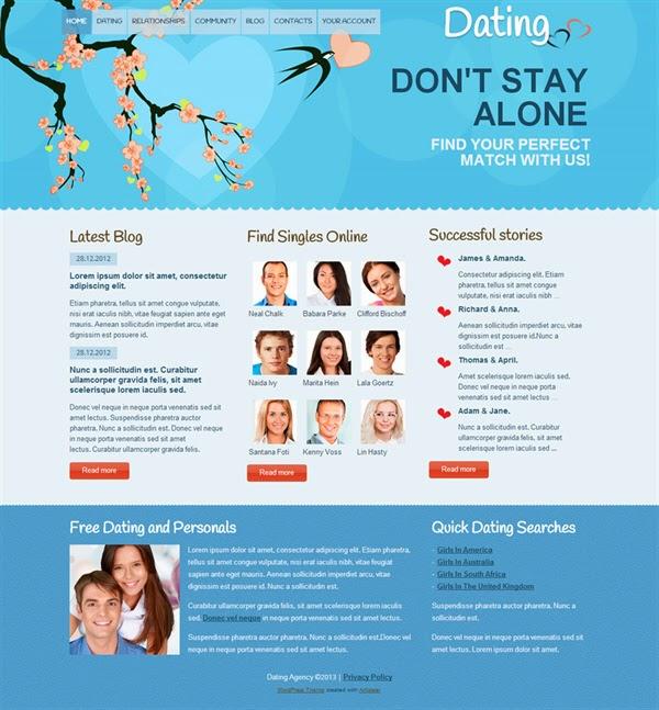 Dating - Free Wordpress Theme