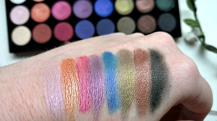Swatches, Beauty Blogger, Makeup Revolution, Budget Beauty palettes, The Style Guide Blog