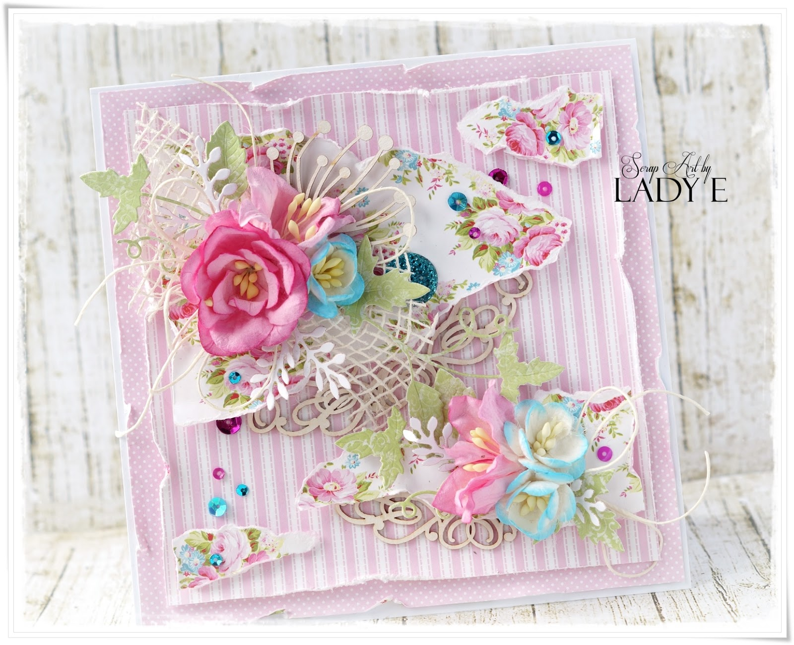 Sweet Card Wild Orchid Crafts Dt Lady E Design