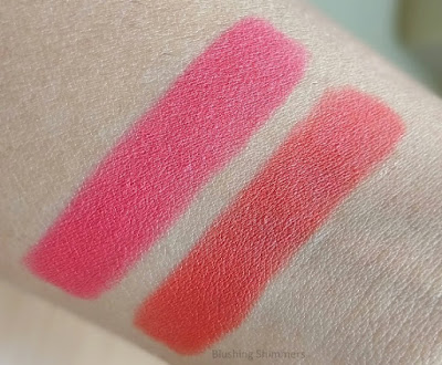 Lakme Absolute Matte Lip Pouts swatches