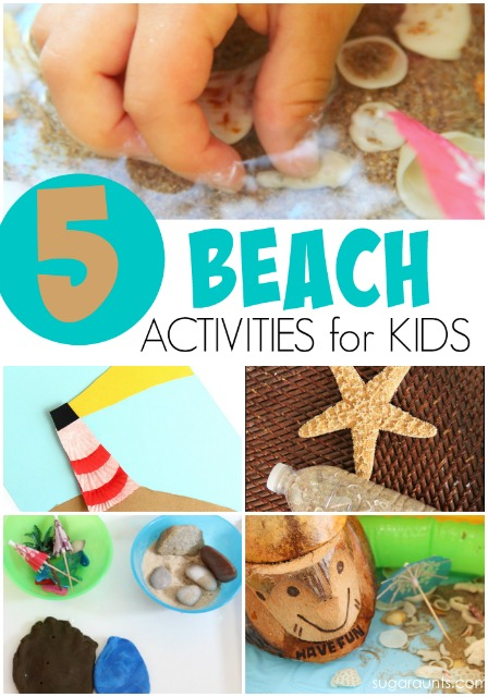 Beach activities for kids and families.  Do these fun ideas before going to the shore this summer!