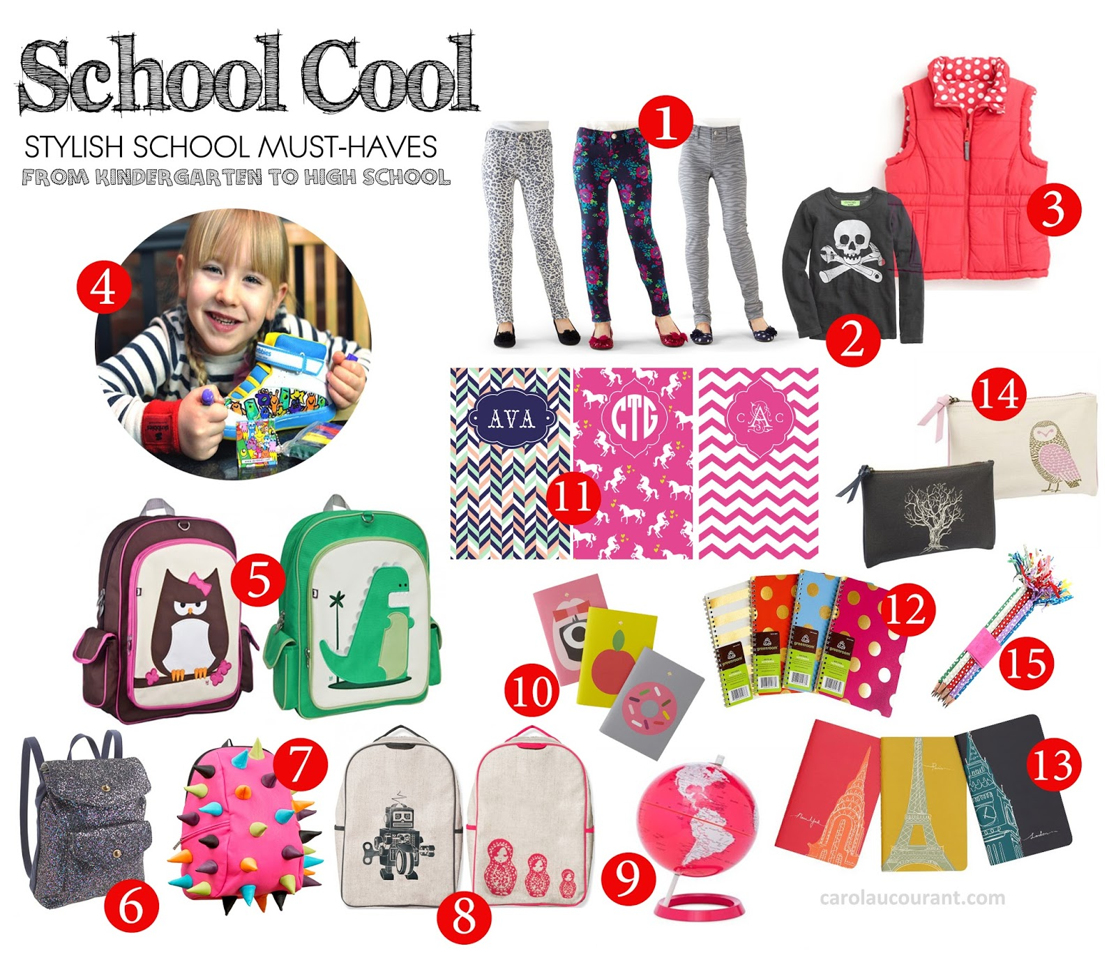 school cool stylish must haves from kindergarten to high school cac. Black Bedroom Furniture Sets. Home Design Ideas