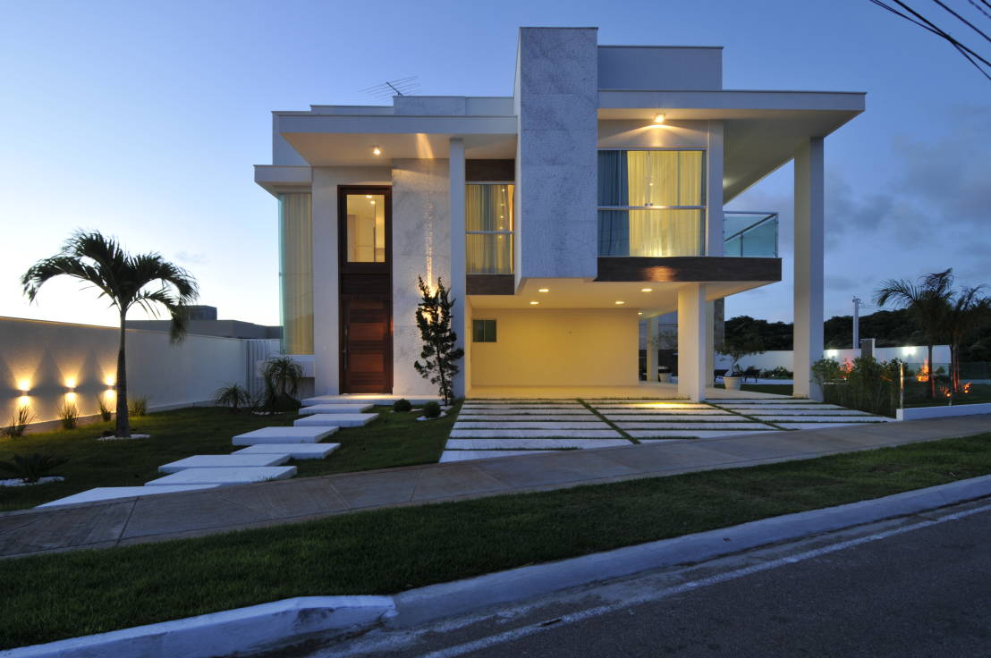 Fachadas de casas com m rmores veja modelos lindos e for Casas contemporaneas en esquina