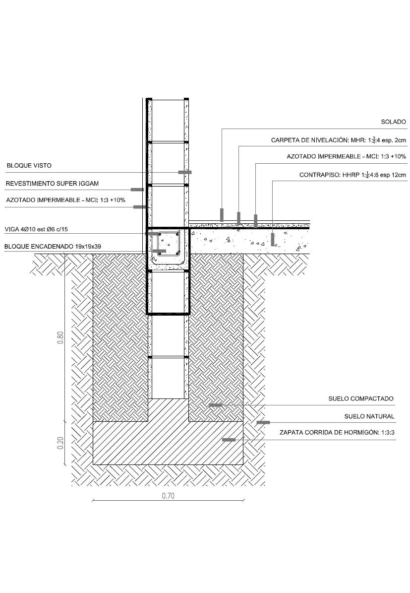 Detalles constructivos cad detalla cimentaci n zapata for Construccion de piletas de hormigon